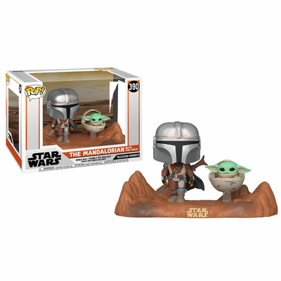 Pack The Mandalorian 2 Funko POP Moment! Mandalorian & Child 9cm
