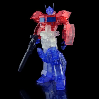 Figurine Transformers Furai Model Plastic Model Kit Optimus Prime IDW Clear Ver. 16cm