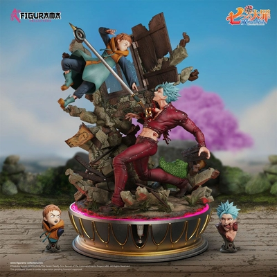 Diorama Seven Deadly Sins Elite Fandom Ban vs King 54cm