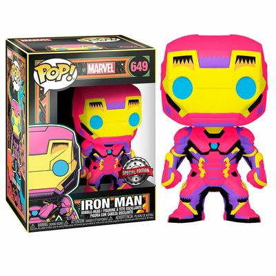 Figurine Marvel Funko POP! Marvel Black Light Iron Man 9cm