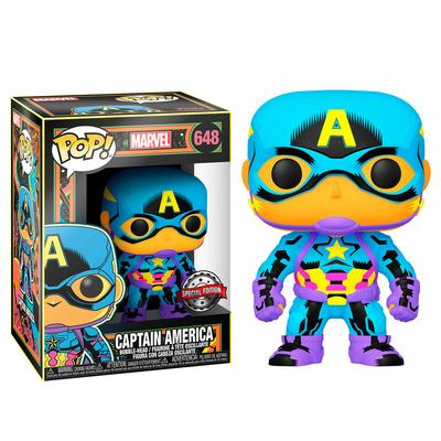 Figurine Marvel Funko POP! Marvel Black Light Captain America 9cm