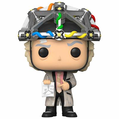 Figurine Retour vers le Futur Funko POP! Doc with Helmet 9cm