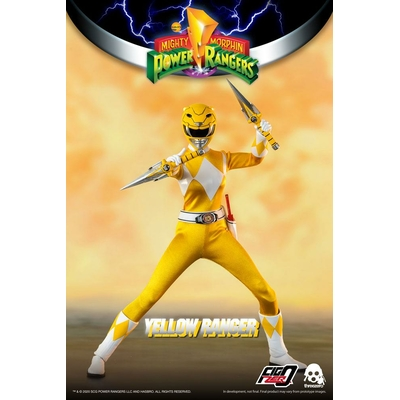 Figurine Mighty Morphin Power Rangers FigZero Yellow Ranger 30cm
