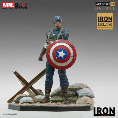 Statuette Marvel Comics BDS Art Scale Captain America First Avenger MCU 10 Years Event EX 21cm
