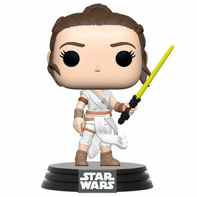 Figurine Star Wars Episode IX Funko POP! Rey with Yellow Saber 9cm
