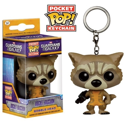 Porte-clés Guardians of the Galaxy POP! Rocket Raccoon 4cm