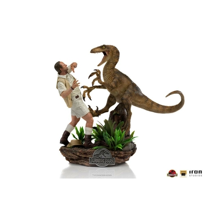 Statuette Jurassic Park Deluxe Art Scale Clever Girl 25cm