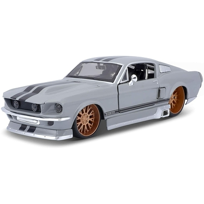 Ford Mustang GT tuning Gris Clair 1967 Maisto 1/24