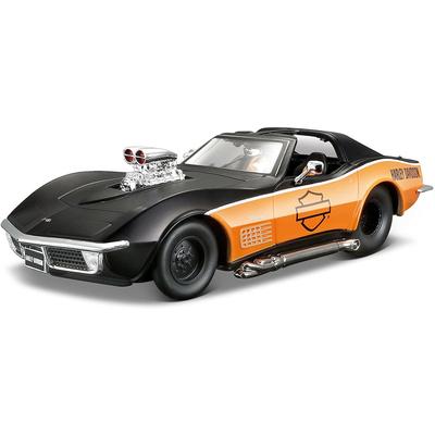 Chevrolet Corvette Noir/Orange Harley Davidson 1970 Maisto 1/24