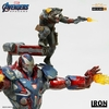 Statuette Avengers Endgame BDS Art Scale Iron Patriot & Rocket 28cm 1001 Figurines (7)