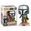 Figurine Star Wars The Mandalorian Funko POP! Mando Flying with Jet Pack 9cm 1001 Figurines 2