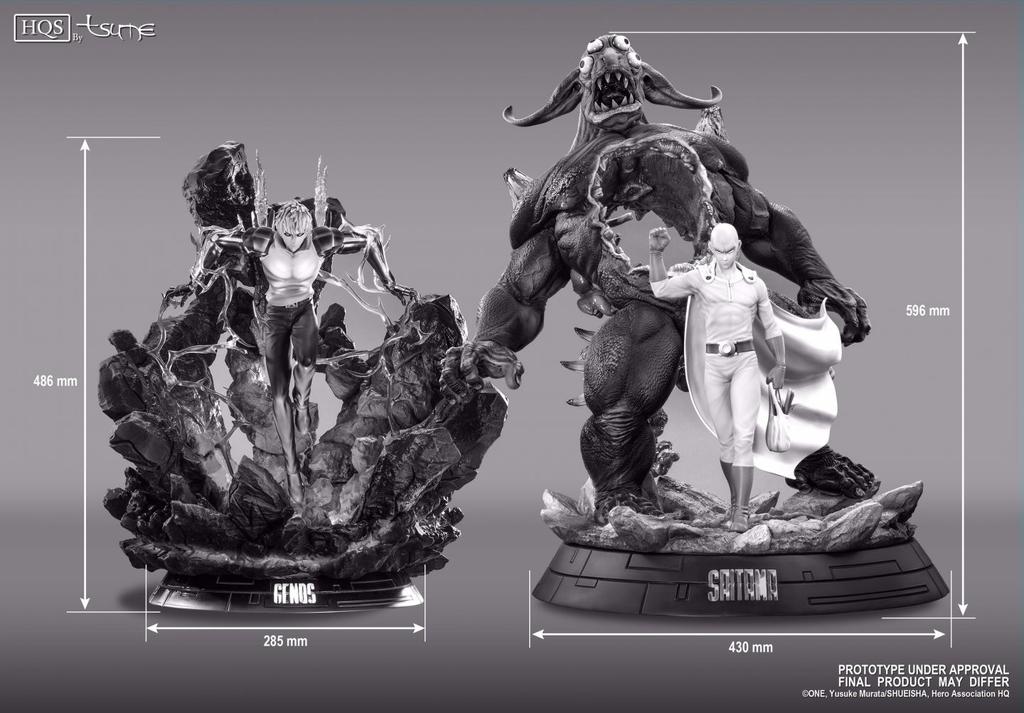 Statue One Punch Man Saitama HQS Tsume 60cm 1001 Figurines 9