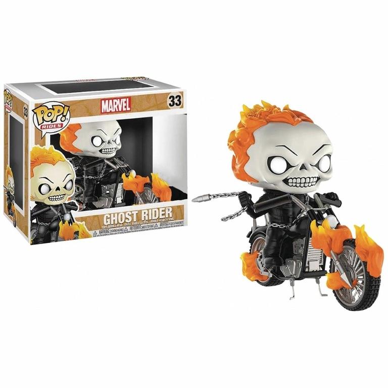 Figurine Marvel Comics Funko POP! Rides Classic Ghost rider 1001 Figurines