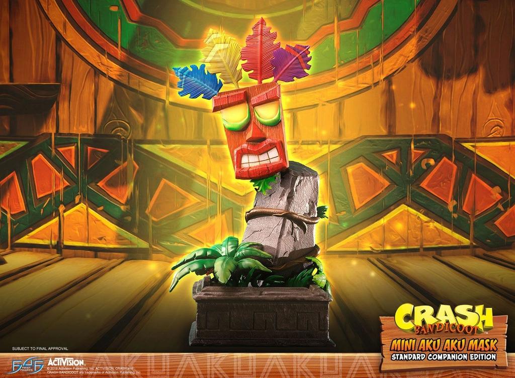 Statuette Crash Bandicoot Mini Aku Aku Mask 40cm 1001 Figurines