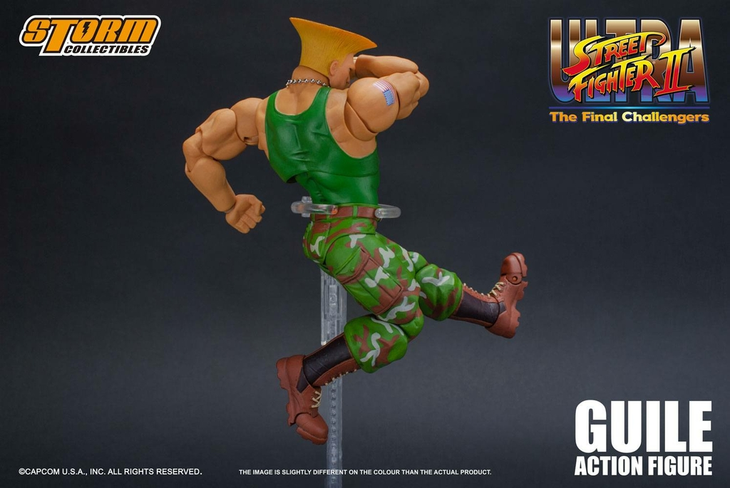 Figurine Ultra Street Fighter II The Final Challengers Guile 16cm 1001 Figurines (9)