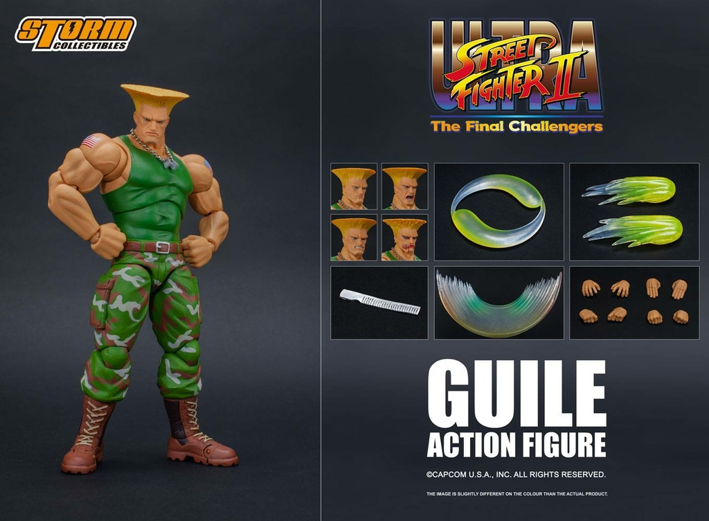Figurine Ultra Street Fighter II The Final Challengers Guile 16cm 1001 Figurines (12)