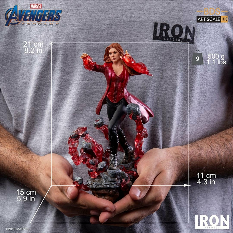 Statuette Avengers Endgame BDS Art Scale Scarlet Witch 21cm 1001 Figurines (10)