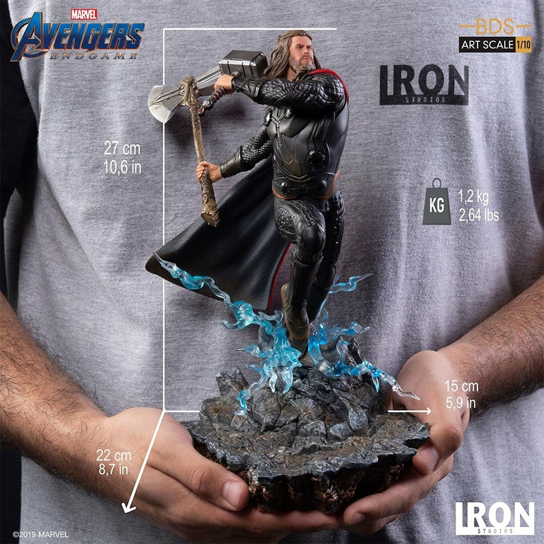 Statuette Avengers Endgame BDS Art Scale Thor 27cm 1001 Figurines (11)