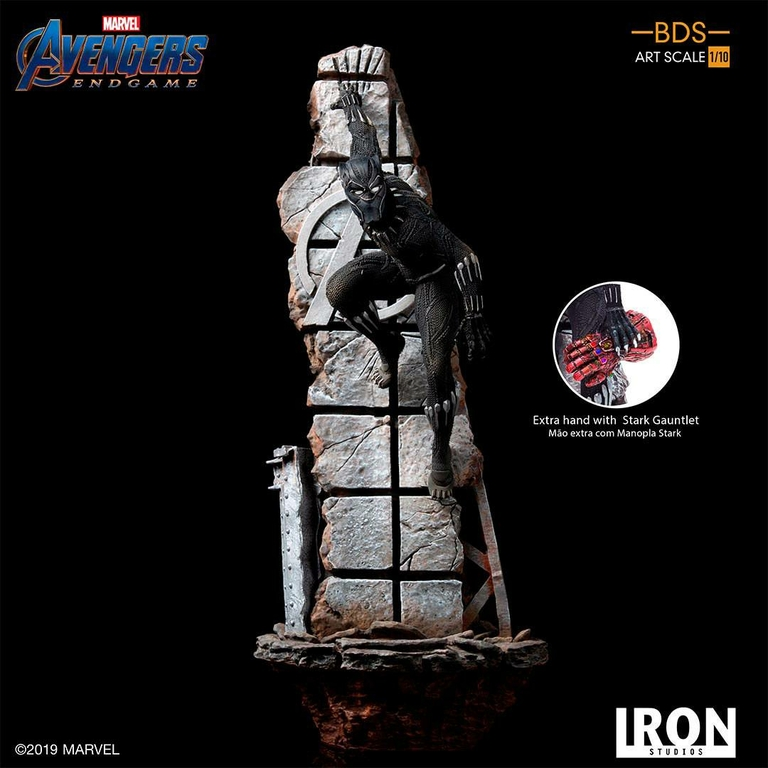 Statuette Avengers Endgame BDS Art Scale Black Panther 34cm 1001 Figurines (11)