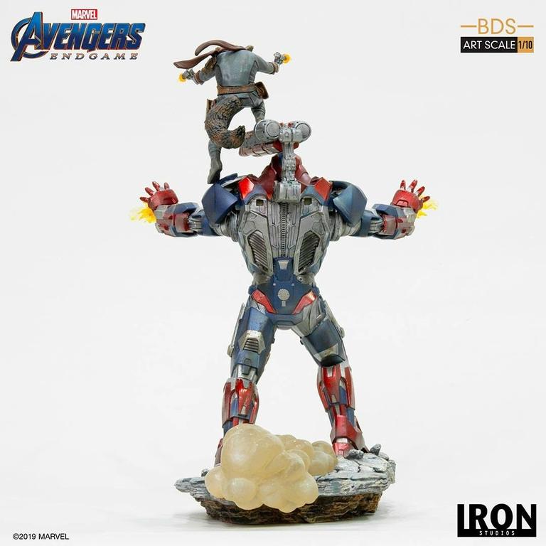Statuette Avengers Endgame BDS Art Scale Iron Patriot & Rocket 28cm 1001 Figurines (3)