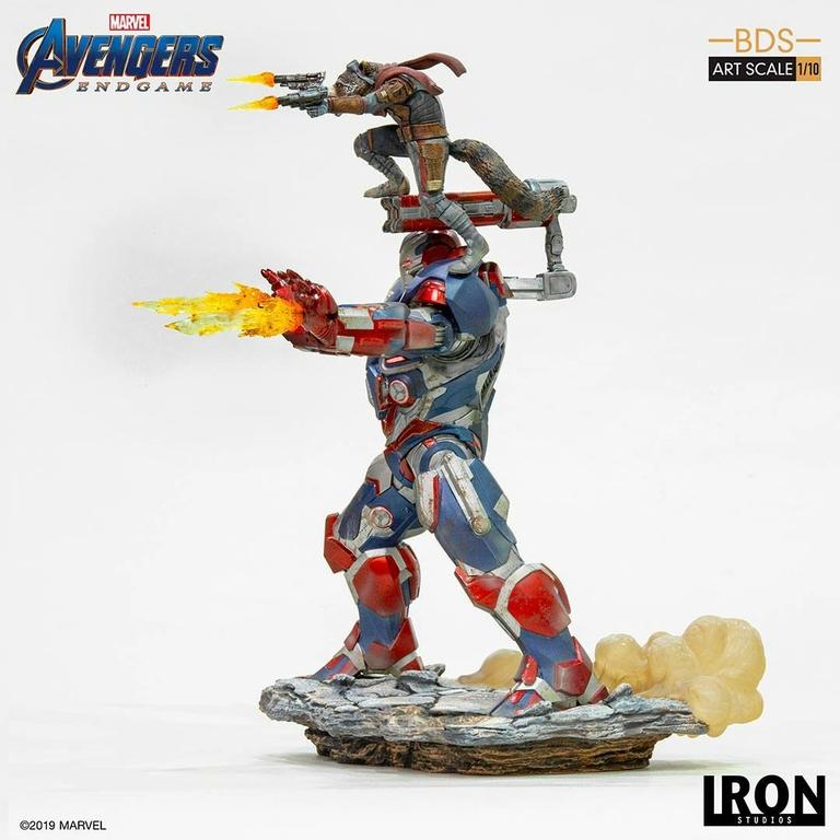 Statuette Avengers Endgame BDS Art Scale Iron Patriot & Rocket 28cm 1001 Figurines (4)