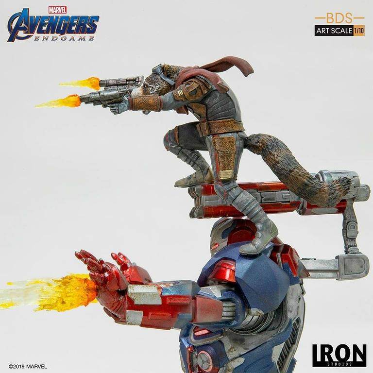 Statuette Avengers Endgame BDS Art Scale Iron Patriot & Rocket 28cm 1001 Figurines (5)