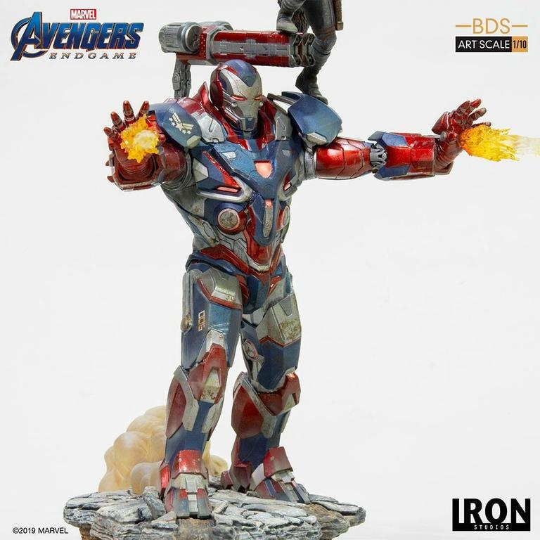 Statuette Avengers Endgame BDS Art Scale Iron Patriot & Rocket 28cm 1001 Figurines (8)