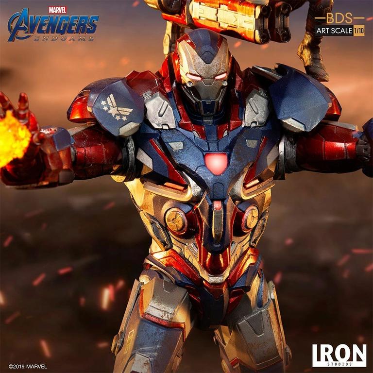 Statuette Avengers Endgame BDS Art Scale Iron Patriot & Rocket 28cm 1001 Figurines (10)
