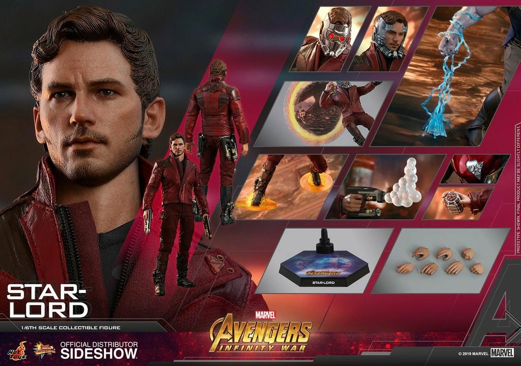 Figurine Avengers Infinity War Movie Masterpiece Star-Lord 31cm 1001 Figurines (15)
