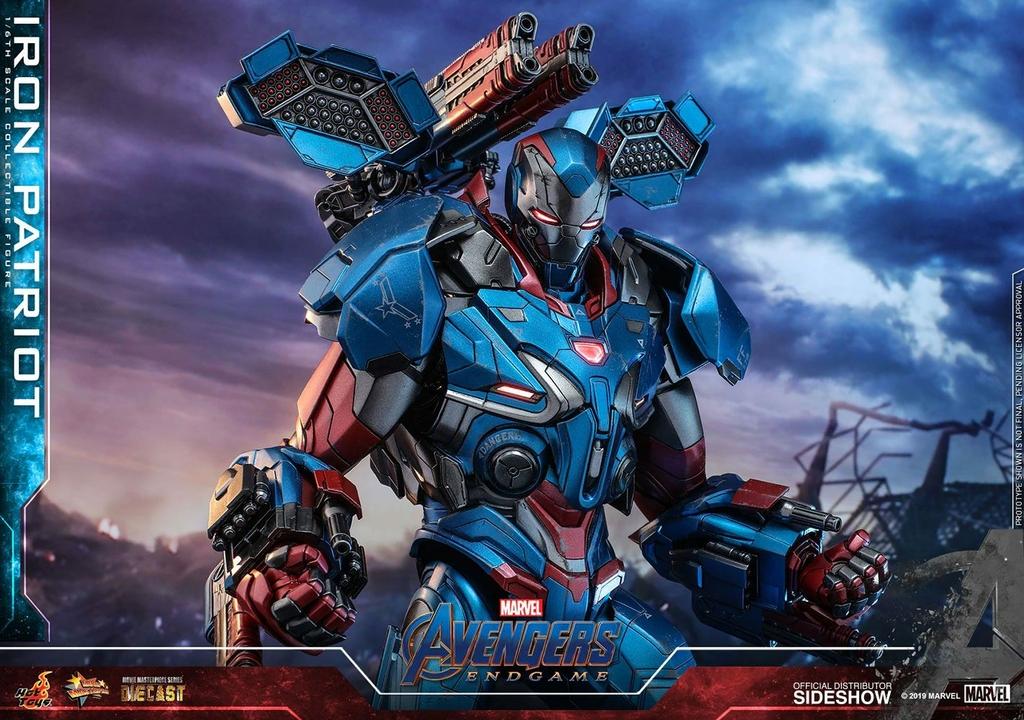 Figurine Avengers Endgame Movie Masterpiece Series Diecast Iron Patriot 32cm 1001 figurines (8)