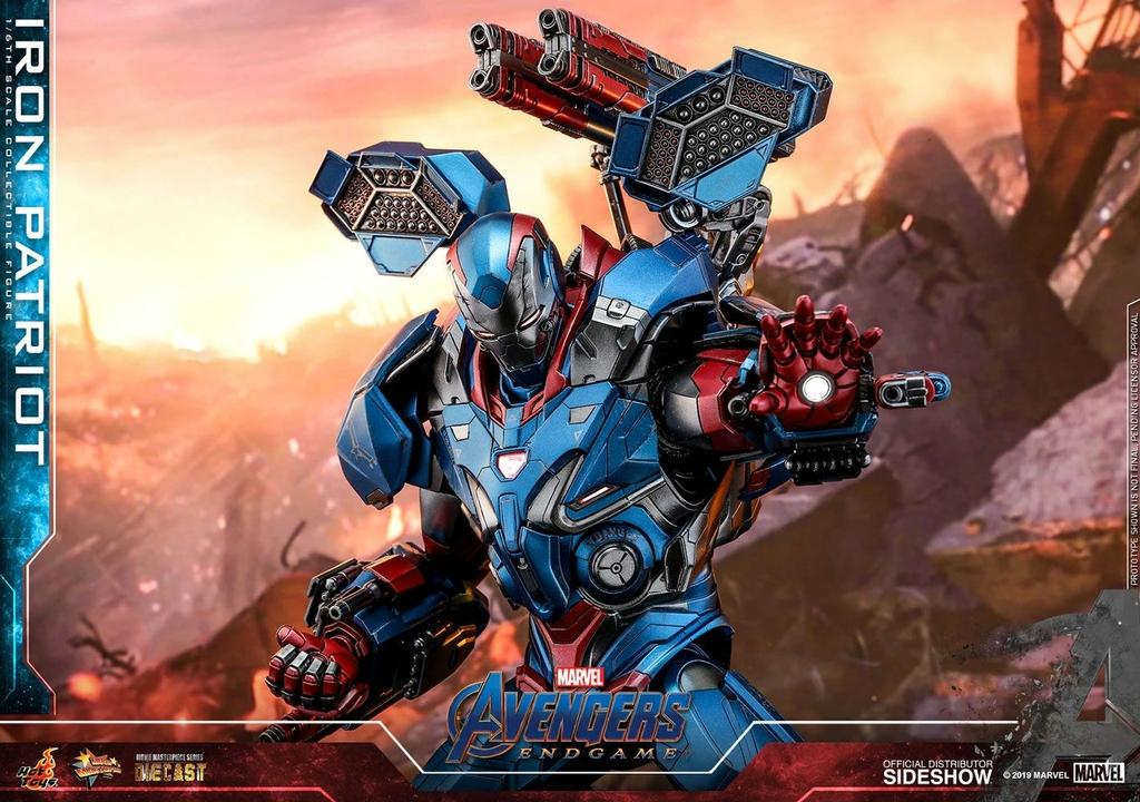 Figurine Avengers Endgame Movie Masterpiece Series Diecast Iron Patriot 32cm 1001 figurines (9)