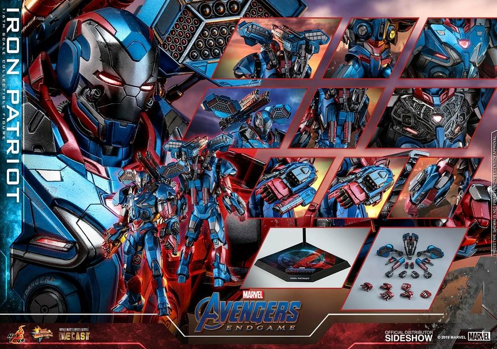 Figurine Avengers Endgame Movie Masterpiece Series Diecast Iron Patriot 32cm 1001 figurines (11)