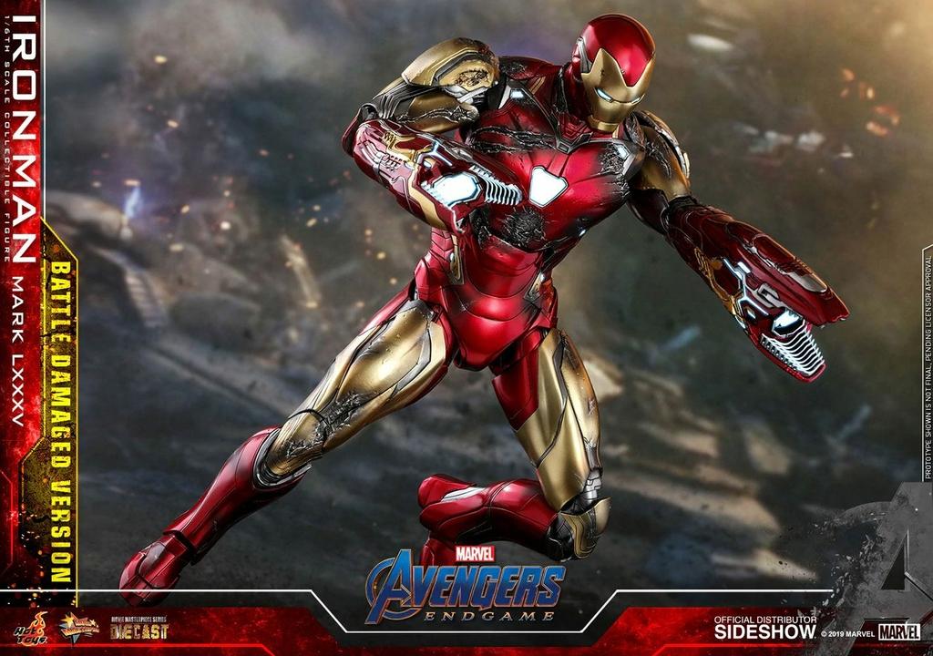 Figurine Avengers Endgame MMS Diecast Iron Man Mark LXXXV Battle Damaged Ver. 32cm 1001 figurines (8)