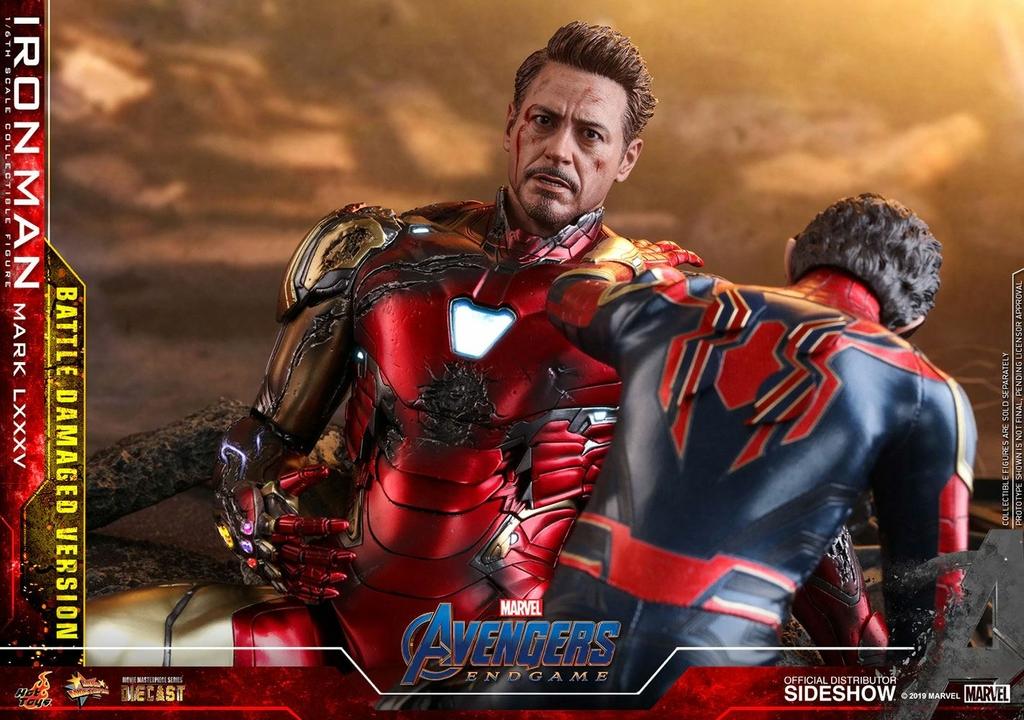 Figurine Avengers Endgame MMS Diecast Iron Man Mark LXXXV Battle Damaged Ver. 32cm 1001 figurines (10)