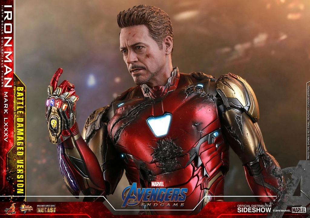 Figurine Avengers Endgame MMS Diecast Iron Man Mark LXXXV Battle Damaged Ver. 32cm 1001 figurines (11)