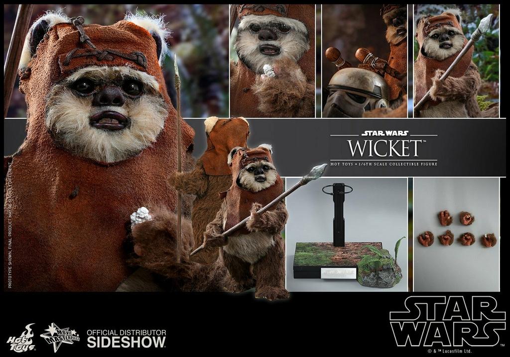 Figurine Star Wars Episode VI Movie Masterpiece Wicket 15cm 1001 figurines (3)