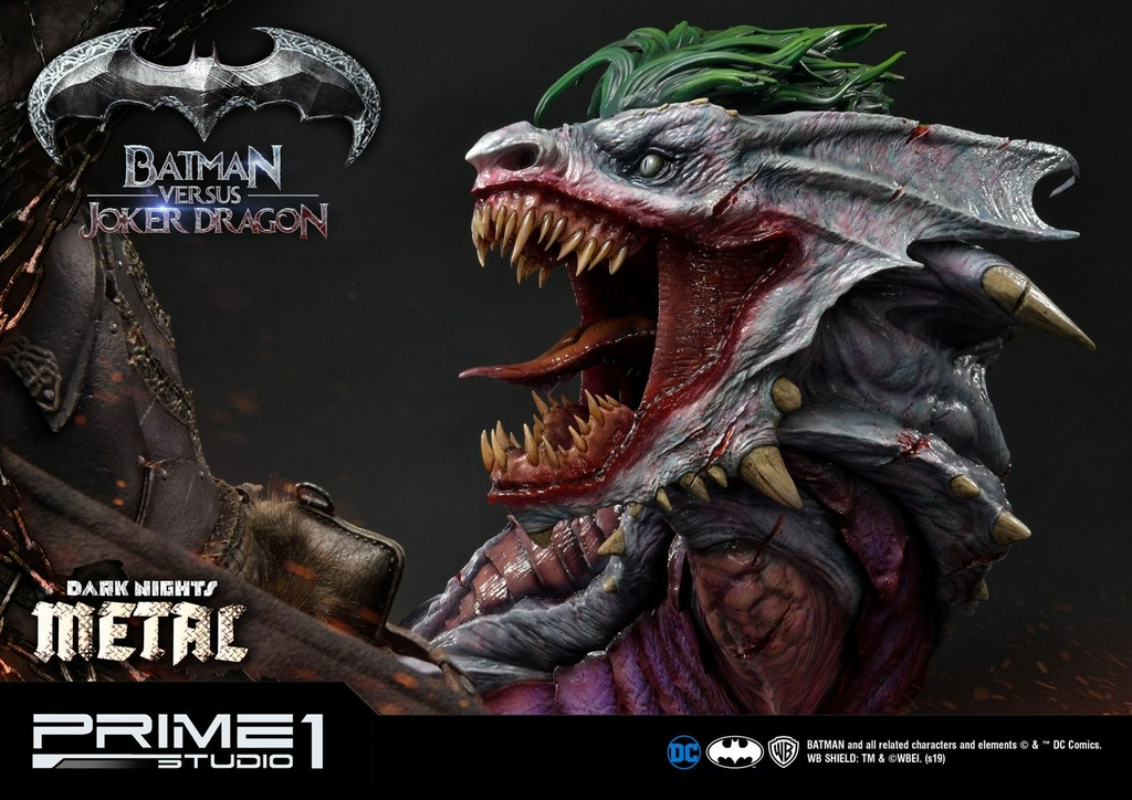 Statue Dark Nights Metal Batman Versus Joker Dragon 87cm 1001 Figurines (15)