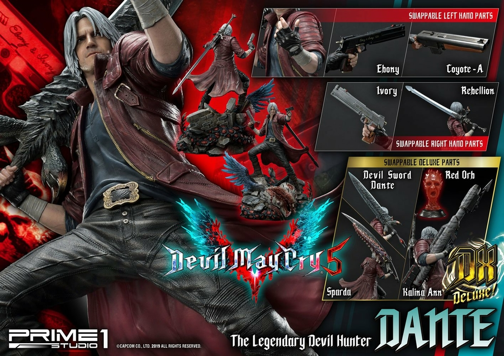 Statue Devil May Cry 5 Dante Deluxe Ver. 74cm 1001 Figurines (16)