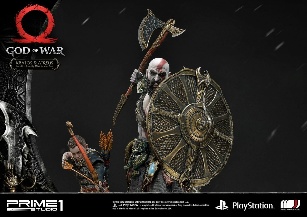 Statue God of War 2018 Kratos & Atreus 72cm 1001 Figurines (13)