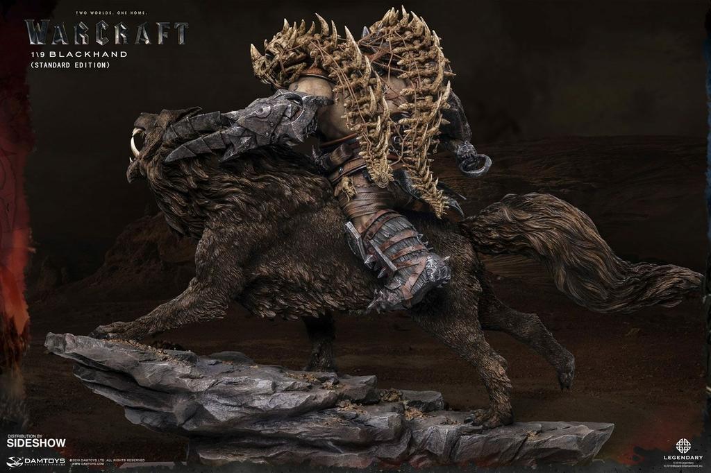 Statuette Warcraft The Beginning Blackhand Riding Wolf Standard Version 40cm 1001 Figurines (2)