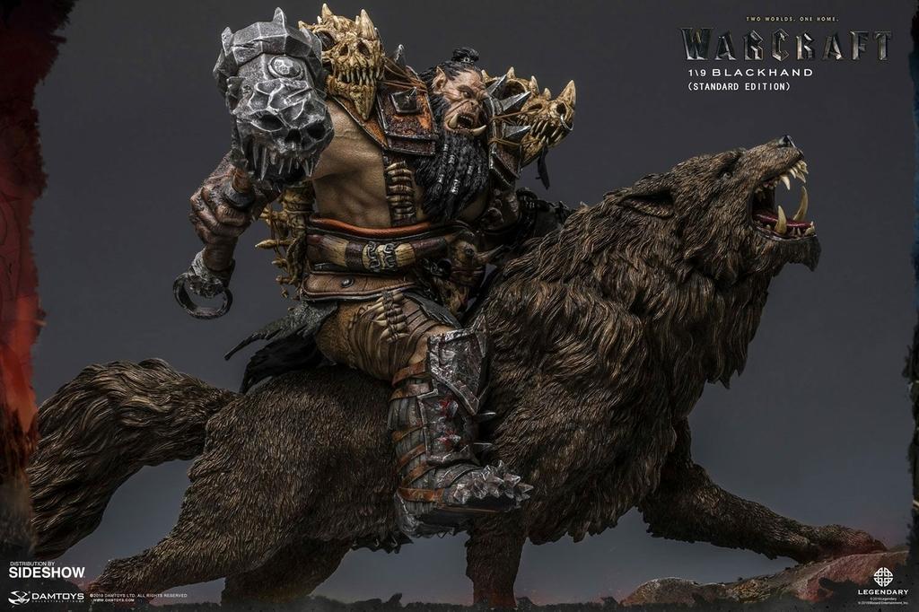 Statuette Warcraft The Beginning Blackhand Riding Wolf Standard Version 40cm 1001 Figurines (4)