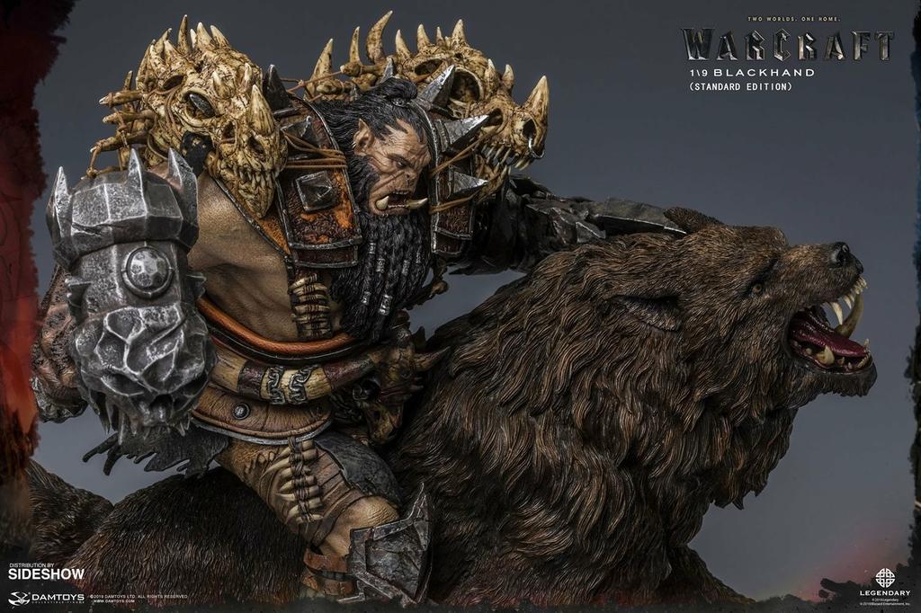 Statuette Warcraft The Beginning Blackhand Riding Wolf Standard Version 40cm 1001 Figurines (5)