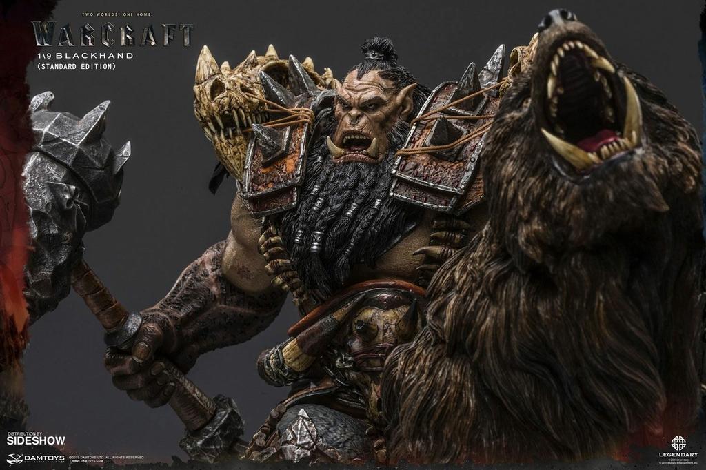 Statuette Warcraft The Beginning Blackhand Riding Wolf Standard Version 40cm 1001 Figurines (9)
