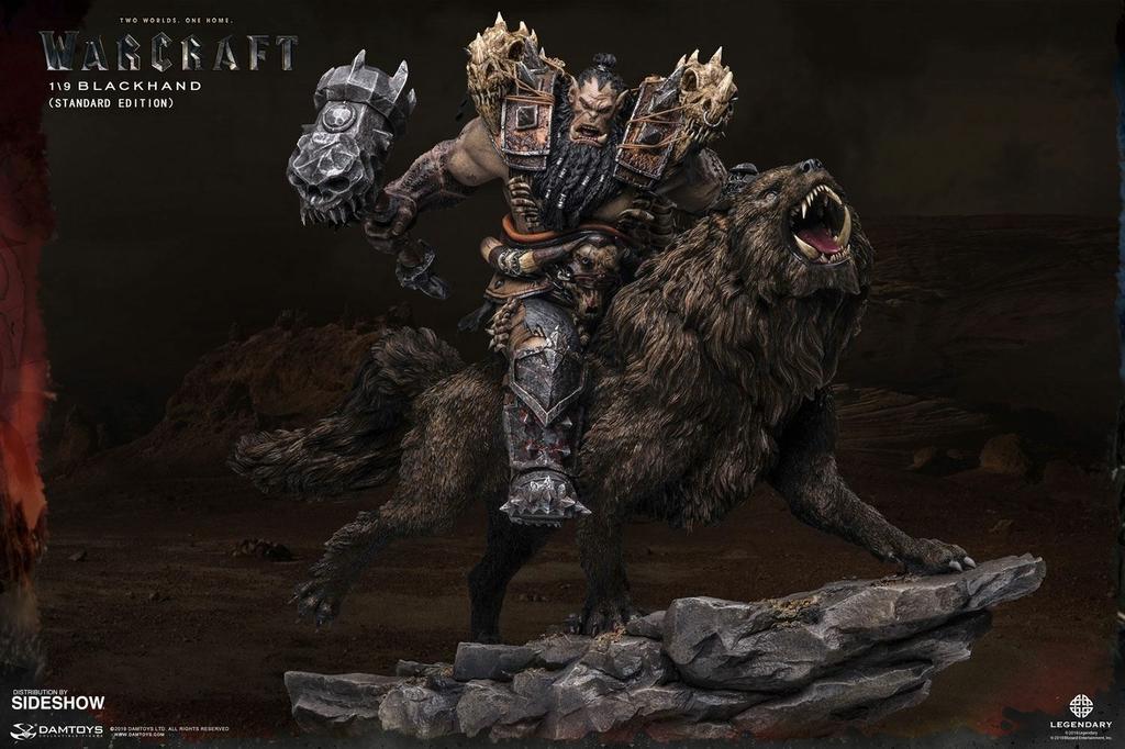 Statuette Warcraft The Beginning Blackhand Riding Wolf Standard Version 40cm 1001 Figurines (13)