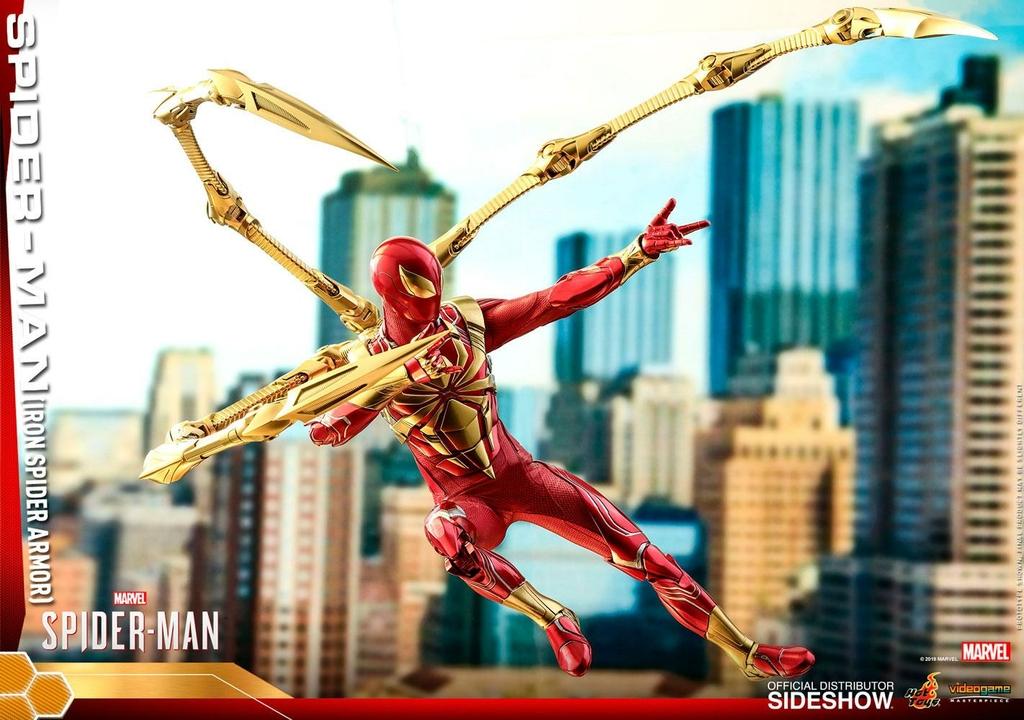 Figurine Marvels Spider-Man Video Game Masterpiece Spider-Man Iron Spider Armor 30cm 1001 Figurines (9)