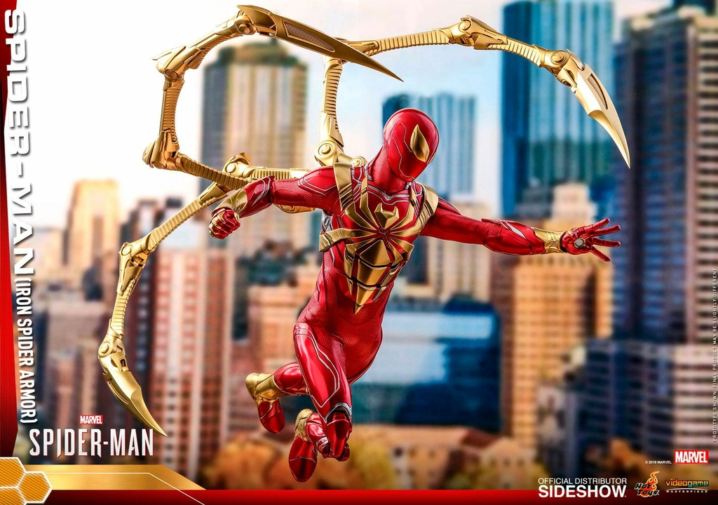 Figurine Marvels Spider-Man Video Game Masterpiece Spider-Man Iron Spider Armor 30cm 1001 Figurines (12)
