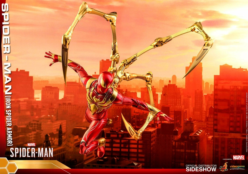 Figurine Marvels Spider-Man Video Game Masterpiece Spider-Man Iron Spider Armor 30cm 1001 Figurines (15)