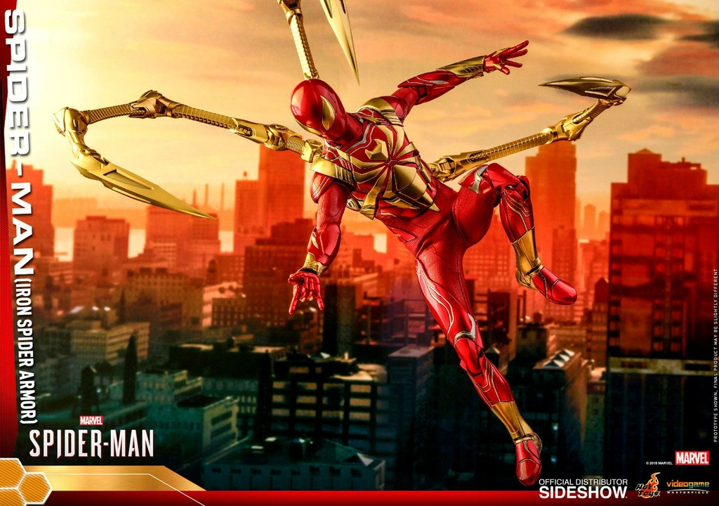 Figurine Marvels Spider-Man Video Game Masterpiece Spider-Man Iron Spider Armor 30cm 1001 Figurines (17)