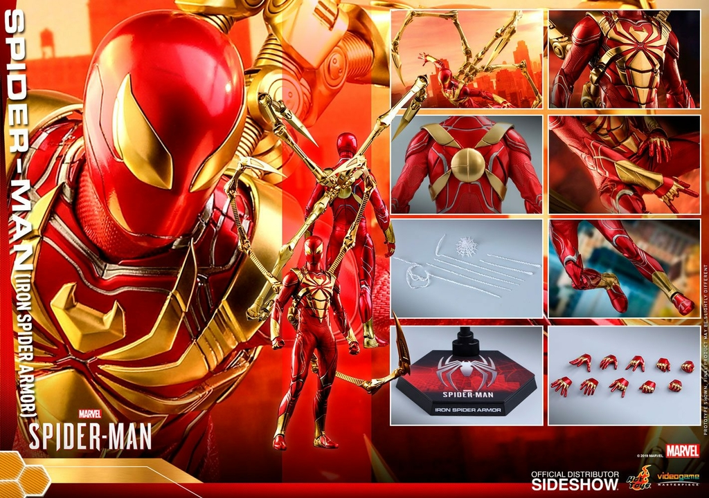 Figurine Marvels Spider-Man Video Game Masterpiece Spider-Man Iron Spider Armor 30cm 1001 Figurines (18)