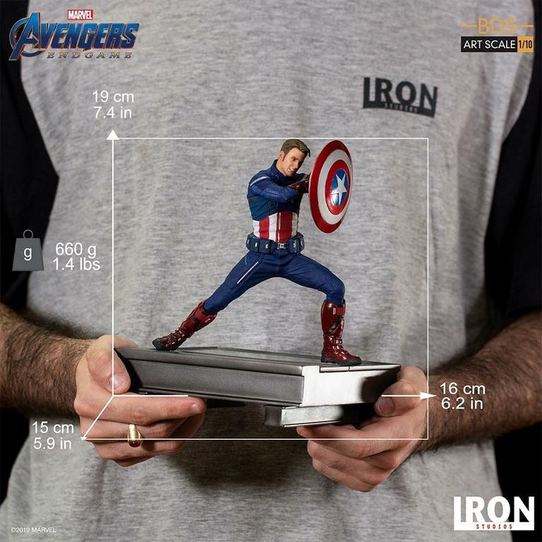 Statuette Avengers Endgame BDS Art Scale Captain America 2023 - 19cm 1001 Figurines (7)